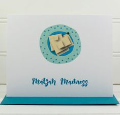 Passover Card, Matzah Madness Card, Happy Passover Card, Jewish Holiday Card, Passover Card for Wife, Husband, Mom, Dad, Friends, Family Happy Passover Greeting, Passover Greetings, Passover Christian, Jewish Christmas, Passover And Easter, Holiday Cards, Christmas Cards, Hebrew Text, Stationery Paper