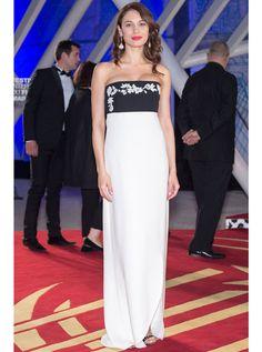 Olga Kurylenko in custom Dior R15 (Look 64) at Marrakech Internation FF