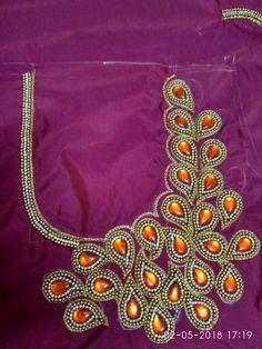 Choli Blouse Design, Cutwork Blouse Designs, Simple Blouse Designs, Bridal Blouse Designs, Blouse Neck Designs, Henna Designs Easy, Hand Designs, Mirror Work Blouse Design, Maggam Work Designs