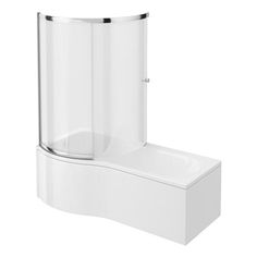 Cruze Shower Bath Enclosure - 1700mm P-Shaped Inc. Screen   Panel
