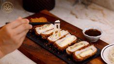 Korean Cheese Katsu Recipe & Video - Seonkyoung Longest Katsu Recipes, Tonkatsu Sauce, Seonkyoung Longest, Air Fry Recipes, Pork Cutlets, Panko Bread Crumbs, Miso Soup, Cabbage Salad, Food Design