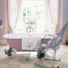 These are the prettiest Shabby Chic Bathrooms ever . . . . . .[media_id:634178]Shabby chic bathroom style can be created in any bathroom, Anna from My Bathroo�