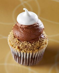 Gigi's cupcakes - chocolate cream pie: devil's food cake with dark chocolate chips, filled with chocolate rum cream, topped with chocolate frosting, graham cracker crumbs and vanilla fluff.