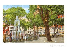 Bienville Square, Mobile, Alabama Poster at AllPosters.com