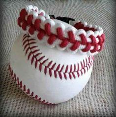 Baseball Stitch Bracelet Paracord Like by CustomCowboyTack on Etsy