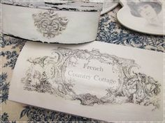 11-cursos de transfers abril 2014 Fruit Box, French Country Cottage, Plates, Deco, Tableware, Tejidos, Atelier, Refurbished Furniture, Blue Prints