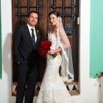 Alvina Valenta Real Bride Carissa in Style 9161 and Husband Greg