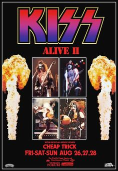 KISS Band KISS Alive II L.A Forum Stand-Up Display Kiss Collectibles Kiss Memorabilia Kiss Army Kiss Poster Kiss Album Gift Idea kiss76