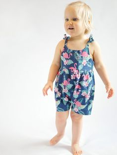 23 Best Image of Playsuit Pattern Sewing Playsuit Pattern Sewing Easy To Sew Playsuit Sewing Pattern For Ba And Toddler Girl With - June 01 2019 at Sewing Patterns Girls, Toddler Dress Patterns, Baby Clothes Patterns, Pattern Sewing, Toddler Dress Tutorials, Toddler Girl Romper, Toddler Girl Outfits, Toddler Fashion, Fashion Kids