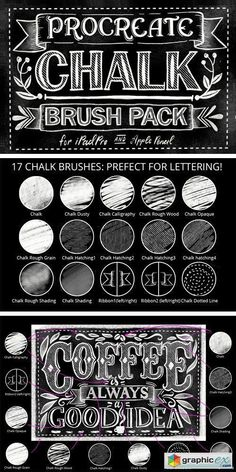 Creativemarket Procreate Chalk Lettering Brush Pack 943604 - All Design Template - Photoshop Vector Lettering Brush, Chalk Lettering, Lettering Design, Chalk Fonts, Affinity Designer, Web Design, Graphic Design, Ipad Art, Lettering Tutorial