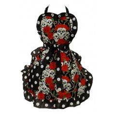 Skulls And Roses Full Apron...i would cook more if I looked cooler... JB ...hint...hint...
