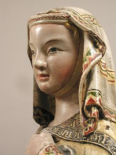statue of Mary called the Visitation Historical Hairstyles, Medieval Hairstyles, Madonna, Medieval World, Medieval Art, Medieval Fashion, Medieval Clothing, Historical Costume, Historical Clothing