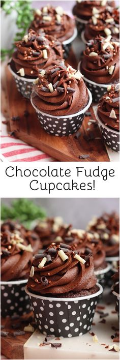 Easy, Delicious and super Insane Chocolate Fudge Cupcakes with the Ultimate Chocolate Buttercream Frosting! Chocolate Fudge Cupcakes, Chocolate Buttercream, Chocolate Muffins, Best Chocolate, Chocolate Food, Easy Buttercream Frosting, Frosting Recipes, Easy Cupcake Recipes, Dessert Recipes