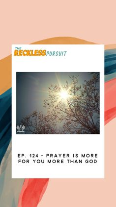 Prayer isn't a magical fix to a situation but it is a great tool to help get us in the right headspace.  #podcast #podcasting #prayer #God #christian #newepisode