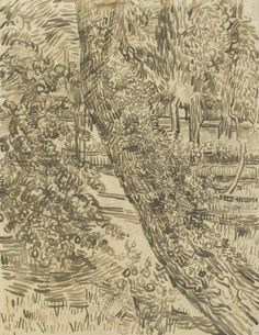 Tree with Ivy in the Garden of the Asylum Saint-Rémy-de-Provence, May - June 1889 Vincent van Gogh (1853 - 1890) pencil, reed pen and brush and ink, on paper, 61.8 cm x 47.1 cm Van Gogh Museum, Amsterdam (Vincent van Gogh Foundation)