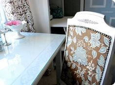 FROM CHEAP TO CHIC ... Easy Upholstery with Nailheads.