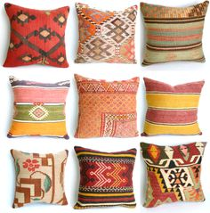 Turkish Kilim / Suzani hand-embroidered pillows