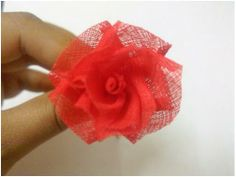 A slightly different rose tutorial. Made with organdy.