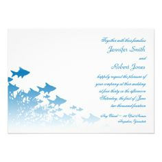 Blue Fish and Coral Wedding Invitation