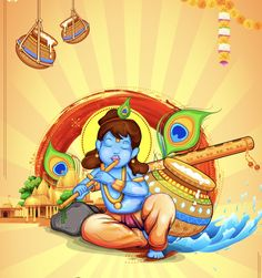 May Lord Krishna's flute invite the melody of love into your life. Wishing you all a very Happy Janmashtami ! Krishna Flute, Radha Krishna Love, Krishna Radha, Durga, Radhe Krishna Wallpapers, Lord Krishna Wallpapers, Krishna Drawing, Krishna Painting, Happy Janmashtami