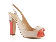 Sergio Rossi high heels slingbacks in beige leather - Italian Boutique €358