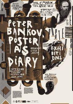 Peter Bankov. Poster as Diary, Ecole supérieure d'art de Cambrai, 2016