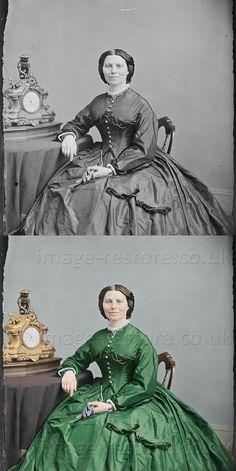 0c1f56de3b7cd Clara Barton 1865 now in colour, old photos coloured bring history to life!