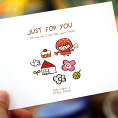 POSTCARD-JUST FOR YOU - 옐로우스웨터, 디자인문구, 편지/카드, 엽서, 일러스트엽서