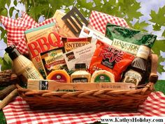 Master of the Grill Barbeque Gift Basket  www.kathysholiday.com