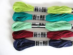 100% cotton thread, set of 5 skeins from Jewelry&Hand Made by DaWanda.com