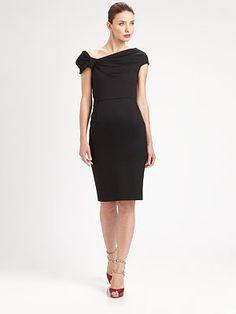 Valentino - Bow-Shoulder Dress - Saks.com