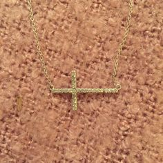 Sterling silver cross necklace Never worn, perfect condition. Sterling silver Jewelry Necklaces