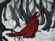 "Melisandre meets Ghost in ""A Dance with Dragons"" as I remember, and I think these two are looks so nice together"
