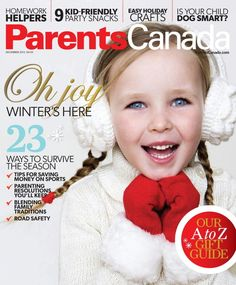 Parents Canada red and white cover! Canada Day, Family Traditions, Party Snacks, Your Child, Gift Guide, Red And White, Baby Kids, Parents, Joy