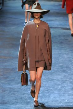 9. Lanvin Fall 2011: wide-brimmed hat and cape remind me of the ancient Greek pairing of chlamys and petasos