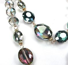 WOMEN'S FASHION GORGEOUS 2 ROW ALL CRYSTAL BEADED STATEMENT PIECE NECKLACE by shopluvmeTake for me to see WOMEN'S FASHION