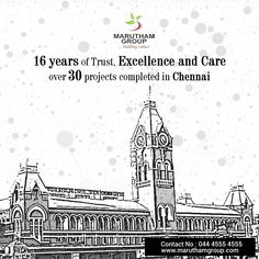 With 16 years of Professional Excellence, we stand top in the field of Real Estate Market. We bring happiness in every home with our quality, timely handover & transparency.  Maruthamgroup #BuildersinChennai #BuyApartmentsinChennai
