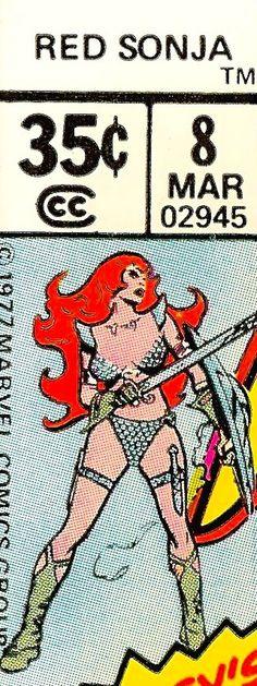 Marvel corner box art - Red Sonja