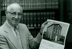Just found! Here's JHSGW President Hyman Cohen displaying the March page from the U.S. Capitol Historical Society's 1981 calendar - there's our Lillian & Albert Small Jewish Museum!