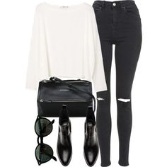 Untitled #7106 by laurenmboot on Polyvore featuring moda, MANGO, Topshop, Givenchy and Ray-Ban