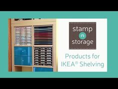 Stamp-n-Storage Products for IKEA® Shelving