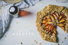 oat-crusted maple plum galette | le jus d