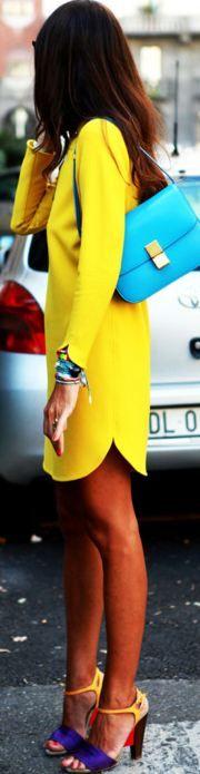 Yellow Street style http://tumblr.neimanmarcus.com/