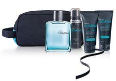 Kit completo para a rotina de cuidados e perfumação. - Shop Homem