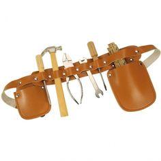 BigJigs Carpenters Tool Belt (Leather Effect) | Wooden Toy Shop