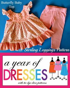 Tie Dye Diva Patterns: A Year of Dresses: Butterfly Baby Top