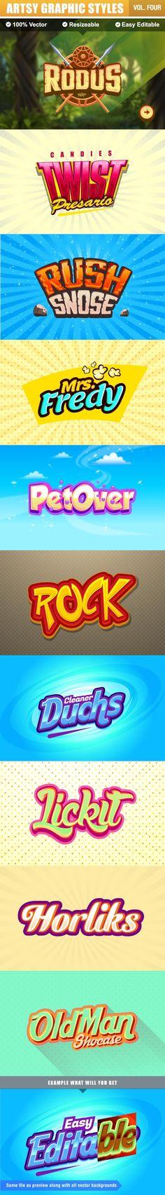Logo Text Effect for Adobe Illustrator #design #ai Download: http://graphicriver.net/item/logo-text-effect/10821277?ref=ksioks