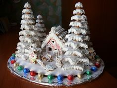 gingerbread house. I love the scale of the trees and the little cottage in the forest.