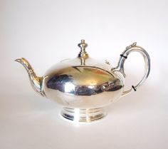 Antique James Dixon & Sons SIlver Plated EPBM Teapot - Sheffield - England - Late 1800's to early 1900's by HouseofLucien, $95.00