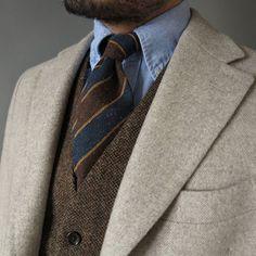 Wooly bully. OCBD shirt: @drakesdiary Tie: @alteamilano Waistcoat: @jcrewmens Coat: @suitsupply #drakes #altea #jcrew #suitsupply #style #fashion #igfashion #instafashion #dapper #ootd #wiwt #suitup #menswear #mensstyle #mnswr #norway #oslo #styleforum #inspiration #beard